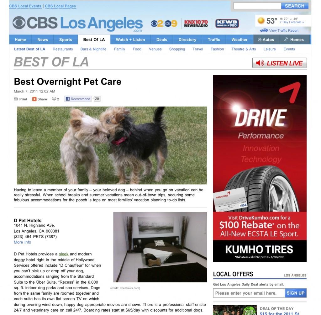 News d pet hotels scottsdale for Best dog boarding los angeles